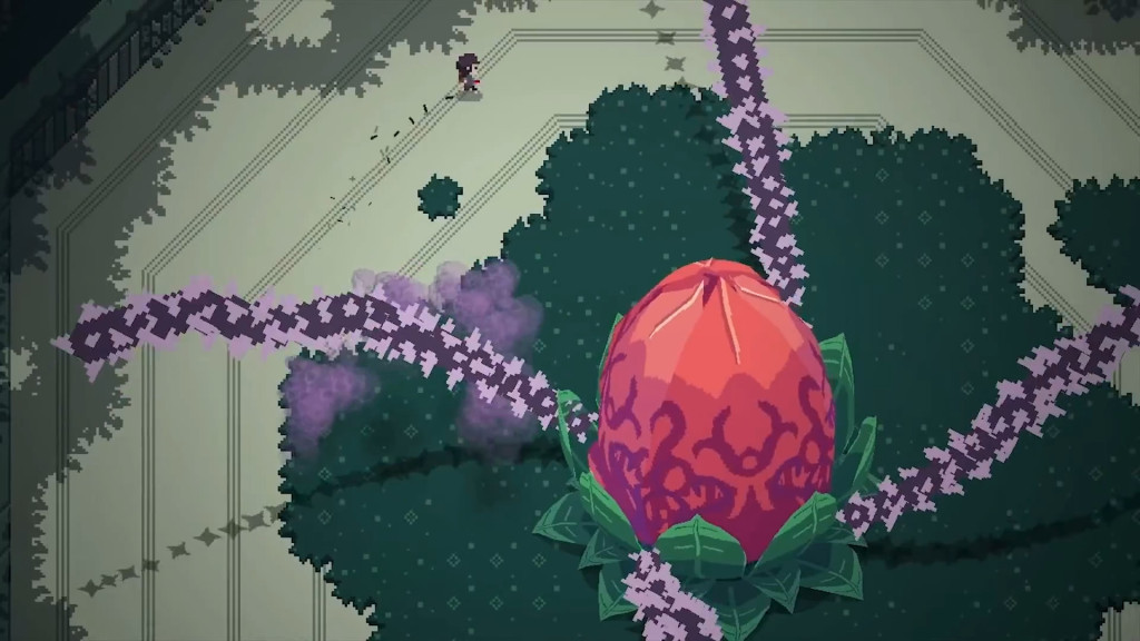 The battle against Vinethesis in Titan Souls
